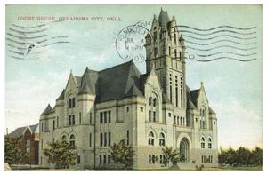 Primary view of object titled 'Court House, Oklahoma City, Okla.'.