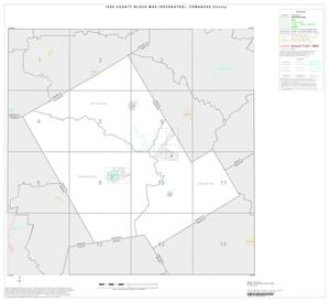 Primary view of object titled '1990 Census County Block Map (Recreated): Comanche County, Index'.