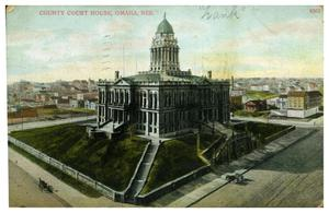 Primary view of object titled 'County Court House, Omaha, Neb.'.