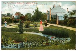 Primary view of object titled 'Lily Pond, Shaw's Garden, St. Louis, U.S.A.'.