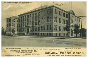 Primary view of object titled 'Manual Training High School, Kansas City, Mo.'.