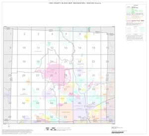 Primary view of object titled '1990 Census County Block Map (Recreated): Denton County, Index'.