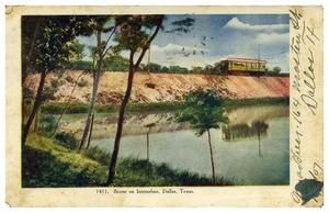 Primary view of object titled 'Scene on Interurban, Dallas, Texas'.