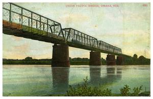 Primary view of object titled '[Union Pacific Bridge, Omaha, Nebraska]'.