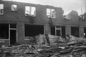 Primary view of object titled 'Badly Damaged Building After Tornado'.