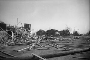 Debris and Houses After Tornado
