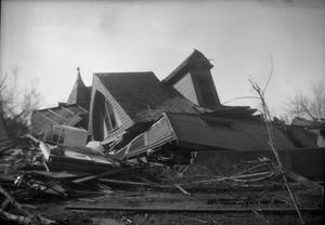 Primary view of object titled 'Collapsed House After Tornado'.