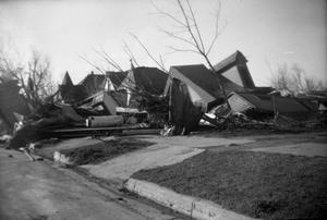 Primary view of object titled 'Fallen Houses After Tornado'.