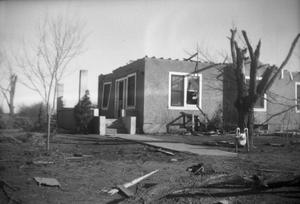 Primary view of object titled '[Photograph of House and Debris After Tornado]'.
