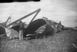 Primary view of object titled 'Fallen Silo After Tornado'.
