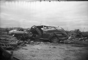 Primary view of object titled 'Damaged Car After Tornado'.
