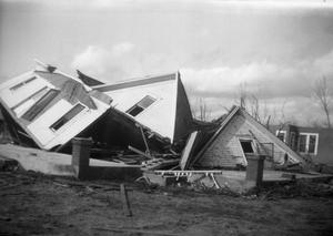 Primary view of object titled 'Fallen House After Tornado'.