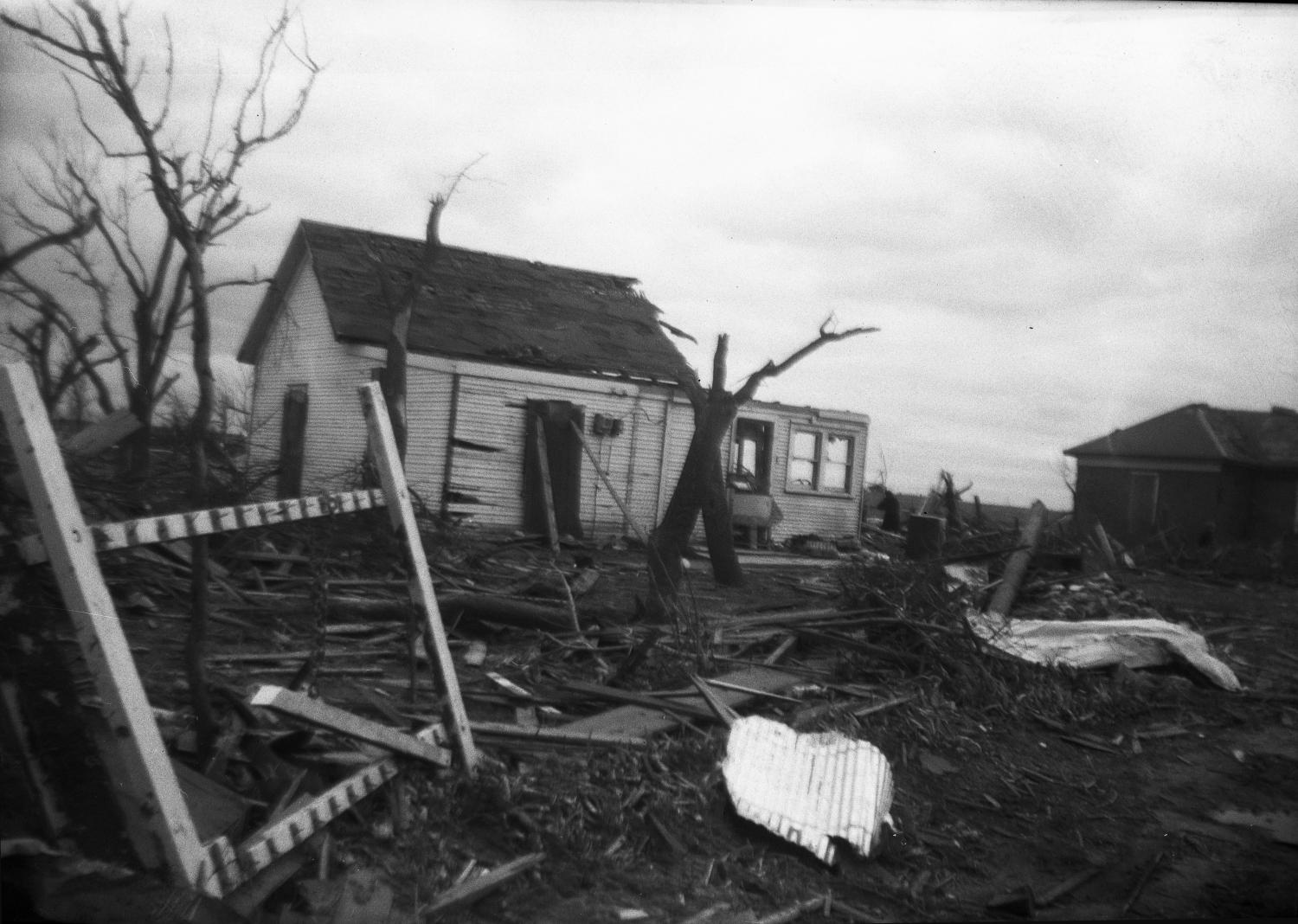 Damaged House After Tornado                                                                                                      [Sequence #]: 1 of 1