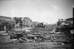 Primary view of object titled '[Photograph of a Town After Tornado]'.
