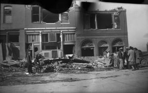 Primary view of object titled '[People and Destroyed Buildings After Tornado]'.