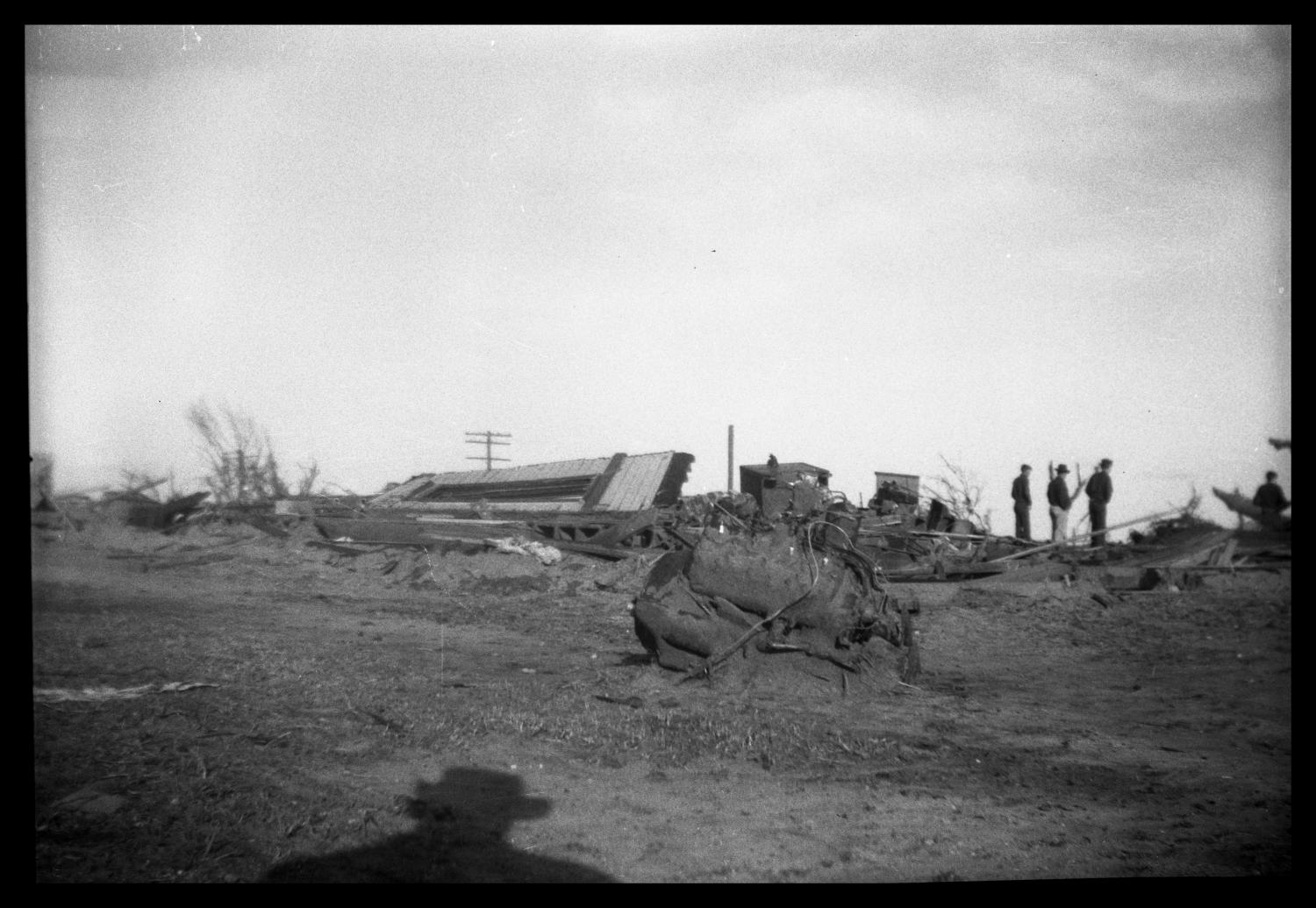 [Photograph of Higgins and Glazier, Texas Tornado Aftermath]                                                                                                      [Sequence #]: 1 of 1
