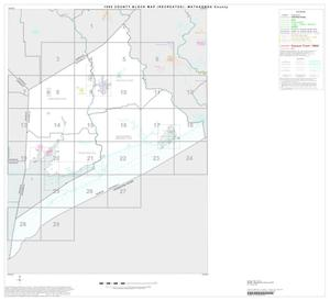 Primary view of object titled '1990 Census County Block Map (Recreated): Matagorda County, Index'.
