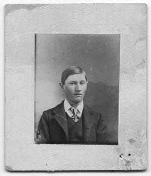 Primary view of object titled 'Young Man in Suit'.
