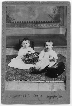 Primary view of object titled 'Two Babies with Baskets'.