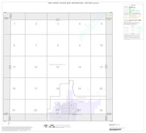 Primary view of object titled '1990 Census County Block Map (Recreated): Potter County, Index'.