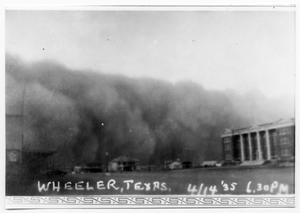 Primary view of object titled 'Dust Storm, Wheeler Texas'.