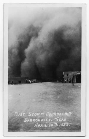 Primary view of object titled 'Dust Storm in Darrouzett, Texas'.
