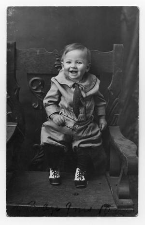 Primary view of object titled 'Baby Boy on a Chair'.