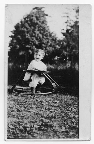 Primary view of object titled 'Baby in a Walker'.