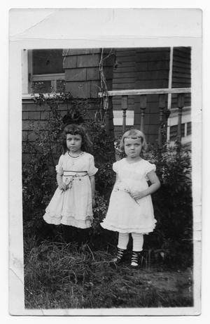 Primary view of object titled 'Two Small Girls with Flowers'.