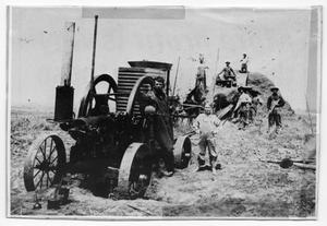 Primary view of object titled 'Wheat Thresher with Crew'.