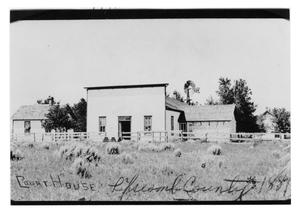 Primary view of object titled 'First Courthouse in Lipscomb'.