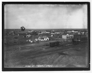 Primary view of object titled 'View of Higgins, Texas in 1905'.