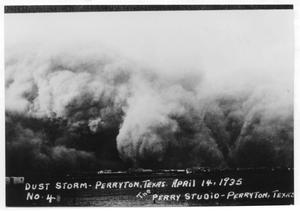 Primary view of object titled 'Dust Storm in Perryton, Texas'.