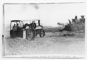 Primary view of object titled 'Maize Threshing'.