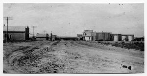 Primary view of object titled 'Follett, Texas Main Street, 1918'.