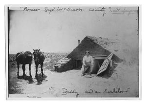 Primary view of object titled 'Walt Speyer Outside Sod House'.