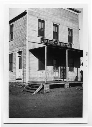 Primary view of object titled 'Lipscomb Hotel'.