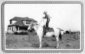 Primary view of object titled 'Jack King on horse Chigger'.