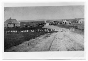 Primary view of object titled 'View of Town in Beaver County, Oklahoma'.