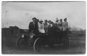 Primary view of object titled 'People with Model-T Car'.