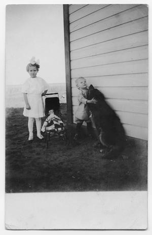 Children with Doll and Dog