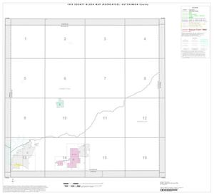Primary view of object titled '1990 Census County Block Map (Recreated): Hutchinson County, Index'.