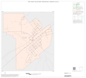 Primary view of object titled '1990 Census County Block Map (Recreated): Roberts County, Inset A01'.