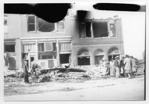 Primary view of object titled 'Building and People After Tornado'.