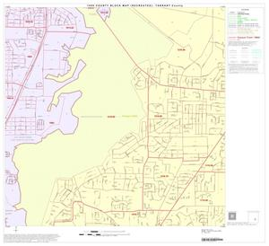 Primary view of object titled '1990 Census County Block Map (Recreated): Tarrant County, Block 67'.