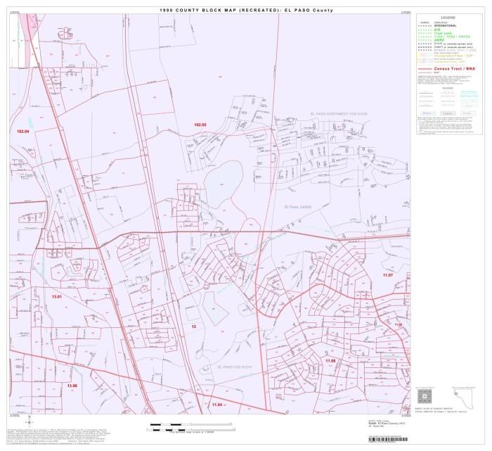 1990 Census County Block Map (Recreated): El Paso County, Block 24 ...