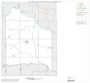 Primary view of object titled '1990 Census County Block Map (Recreated): Red River County, Index'.