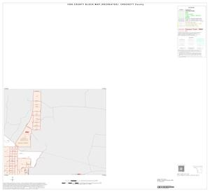 Primary view of object titled '1990 Census County Block Map (Recreated): Crockett County, Inset A02'.