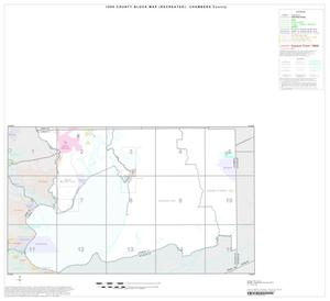 Primary view of object titled '1990 Census County Block Map (Recreated): Chambers County, Index'.