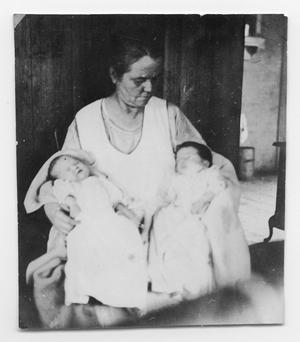 Primary view of object titled 'Mrs. Smith With Her Twins'.